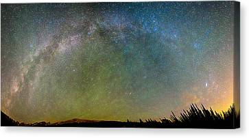 Colorado Indian Peaks Milky Way Panorama Canvas Print by James BO  Insogna