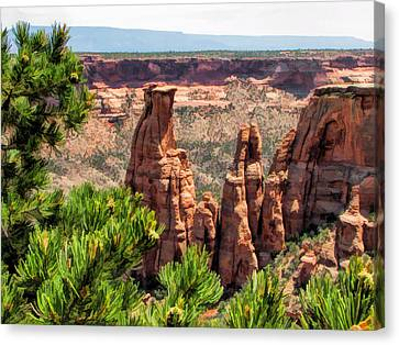 Colorado National Monument Canyon Monoliths Canvas Print by Christopher Arndt