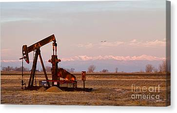 Colorado Oil Well Panorama Canvas Print by James BO  Insogna