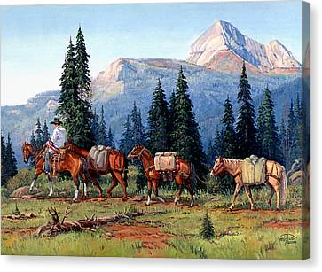 Colorado Outfitter Canvas Print by Randy Follis