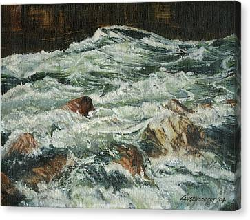 White Water Rapids Canvas Print by Don  Langeneckert