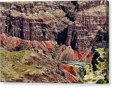 Colorado River In The Grand Canyon High Water Canvas Print by Bob and Nadine Johnston