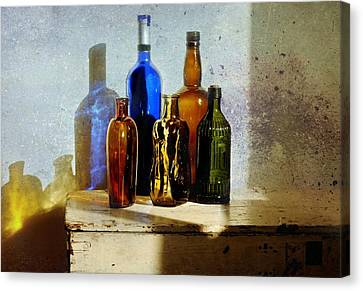 Colored Glass Canvas Print by Diana Angstadt