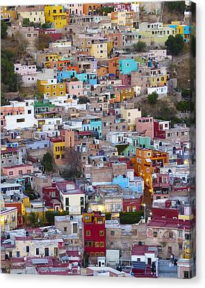 Colored Homes Canvas Print by Douglas J Fisher