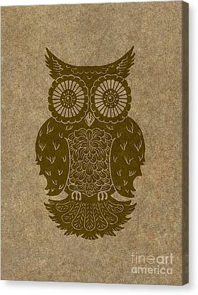Colored Owl 3 Of 4  Canvas Print by Kyle Wood