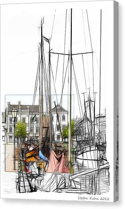Colored Past Canvas Print by Stefan Kuhn