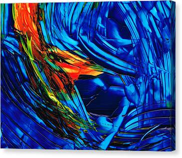 Colorful Abstract Art - Energy Flow 1 - By Sharon Cummings Canvas Print by Sharon Cummings