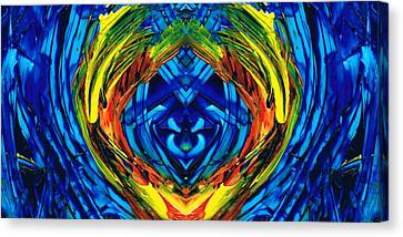 Colorful Abstract Art - Purrfection - By Sharon Cummings Canvas Print by Sharon Cummings