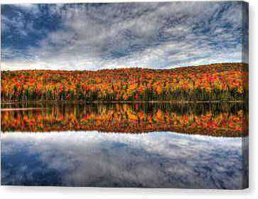 Colorful Autumn Reflection Canvas Print by Pierre Leclerc Photography