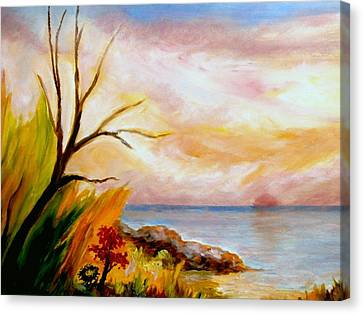 Colorful Beach  Canvas Print by Constantinos Charalampopoulos