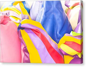 Colorful Beanbags Canvas Print by Tom Gowanlock