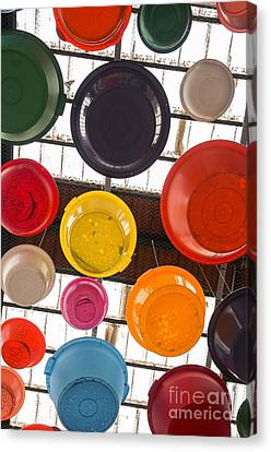 Colorful Bowls Canvas Print by Carlos Caetano