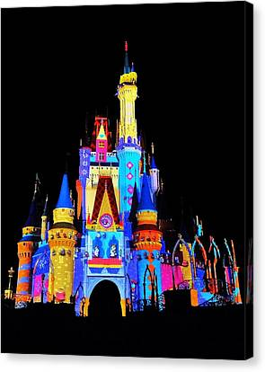 Colorful Castle Canvas Print by Benjamin Yeager