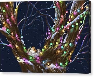 Colorful Christmas Canvas Print by Veronica Minozzi