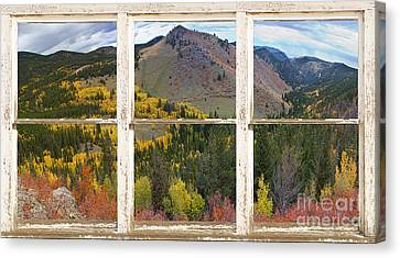 Colorful Colorado Rustic Window View Canvas Print by James BO  Insogna