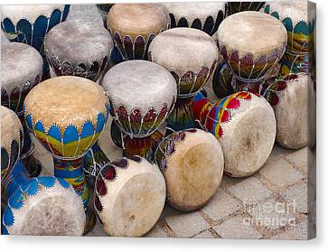 Colorful Congas Canvas Print by Carlos Caetano
