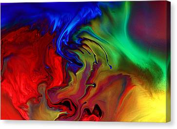 Colorful Contemporary Abstract Art Fusion  Canvas Print by Kredart