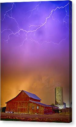 Colorful Country Storm Canvas Print by James BO  Insogna