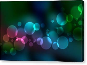 Colorful Defocused Lights Canvas Print by Aged Pixel