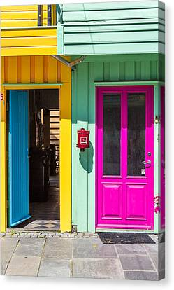 Colorful Doors And Walls Canvas Print by Aldona Pivoriene
