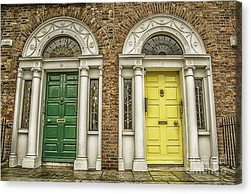 Colorful Doors In Dublin Canvas Print by Patricia Hofmeester