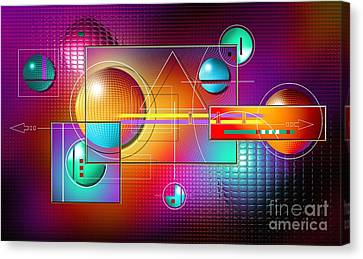 Colorful Canvas Print by Franziskus Pfleghart