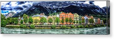 Colorful Innsbruck Canvas Print by Adele Buttolph