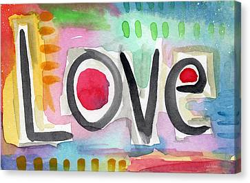 Colorful Love- Painting Canvas Print by Linda Woods