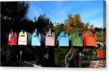 Colorful Mailboxes Canvas Print by Nina Prommer