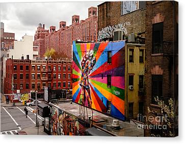Colorful Mural Chelsea New York City Canvas Print by Amy Cicconi