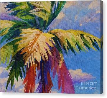 Colorful Palm Canvas Print by John Clark