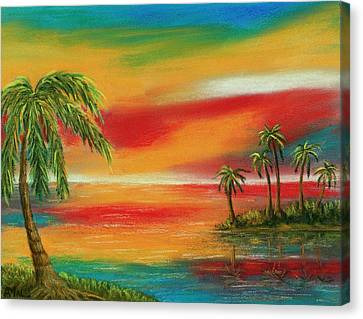 Colorful Paradise Canvas Print by Anastasiya Malakhova
