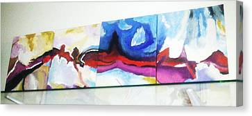 Colorful Sequence Canvas Print by Vickie Meza