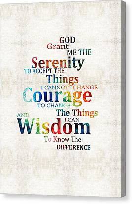 Colorful Serenity Prayer By Sharon Cummings Canvas Print by Sharon Cummings