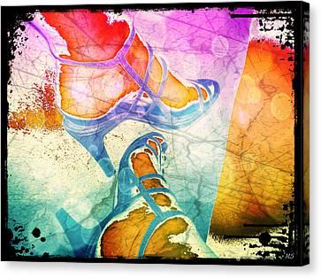 Colorful Shoes Canvas Print by Absinthe Art By Michelle LeAnn Scott