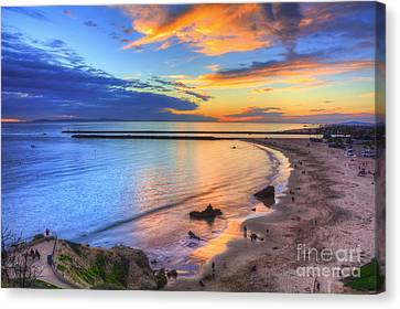 Colorful Sky At Inspiration Point Canvas Print by Eddie Yerkish