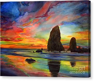 Colorful Solitude Canvas Print by Hailey E Herrera