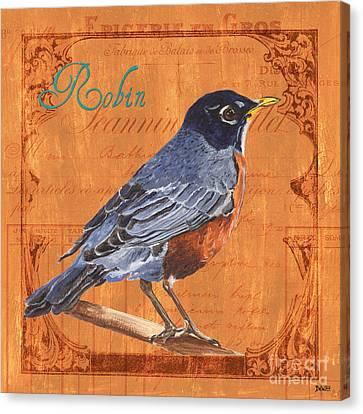Colorful Songbirds 2 Canvas Print by Debbie DeWitt