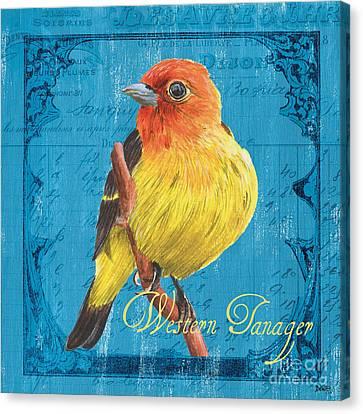Colorful Songbirds 4 Canvas Print by Debbie DeWitt