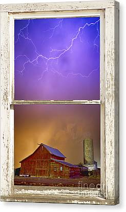 Colorful Storm Farm House Window View Canvas Print by James BO  Insogna