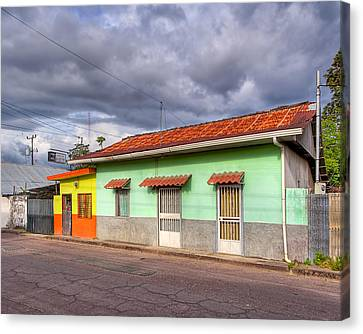 Colorful Streets Of Costa Rica - Liberia Canvas Print by Mark E Tisdale