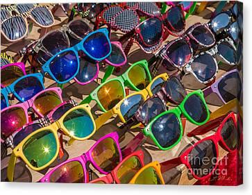 Colorful Sunglasses Canvas Print by Iris Richardson