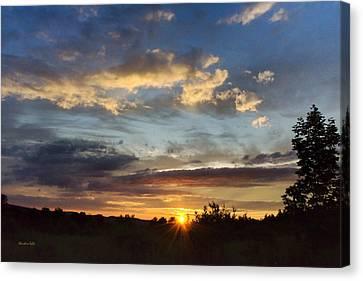 Colorful Sunset Landscape Canvas Print by Christina Rollo