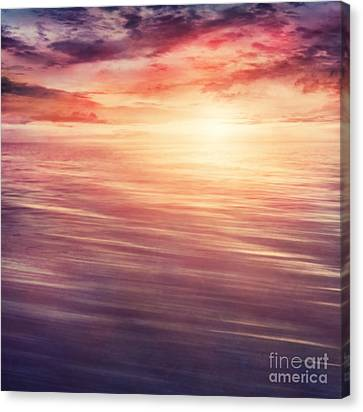 Colorful Sunset Canvas Print by Mythja  Photography