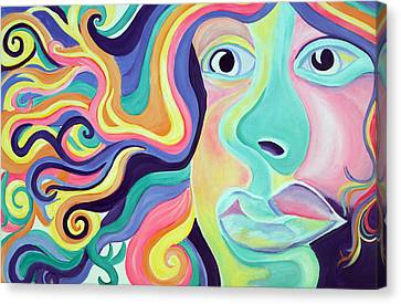 Colorful Thoughts Canvas Print by Lorinda Fore