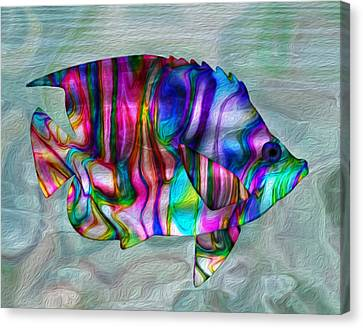 Colorful Tropical Fish Canvas Print by Jack Zulli
