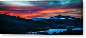 Colorful Twilight Panorama Canvas Print by Mike Lee