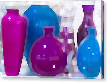 Colorful Vases II - Still Life Canvas Print by Ben and Raisa Gertsberg