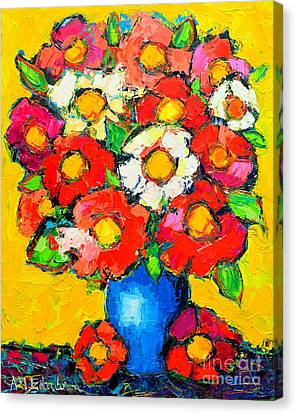 Colorful Wildflowers Canvas Print by Ana Maria Edulescu
