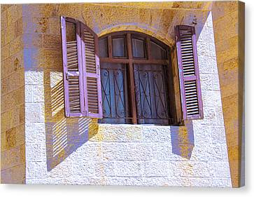 Colorful Window Shutters Canvas Print by Ben and Raisa Gertsberg